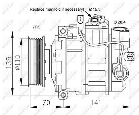 Compresseur NRF 32613 (X1)