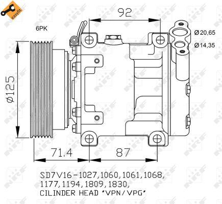 Compresseur NRF 32742 (X1)