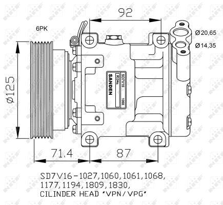 Compresseur NRF 32742G (X1)