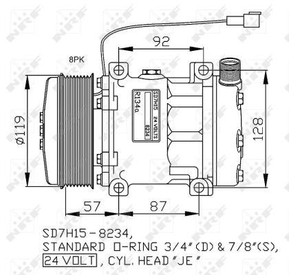 Compresseur NRF 32807G (X1)
