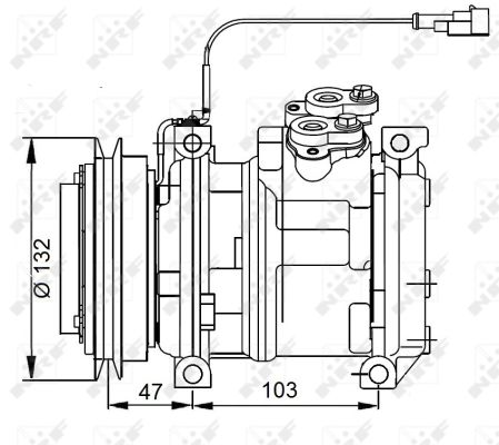 Compresseur NRF 32823G (X1)