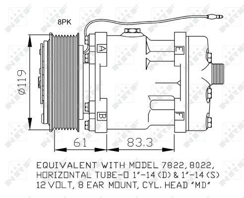 Compresseur NRF 32874 (X1)
