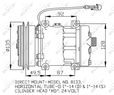 Compresseur NRF 32876 (X1)