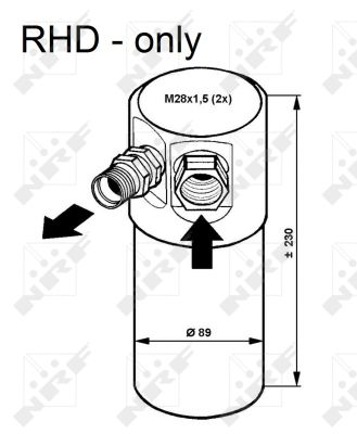 Bouteille deshydratante NRF 33082 (X1)