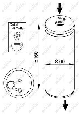 Bouteille deshydratante NRF 33114 (X1)