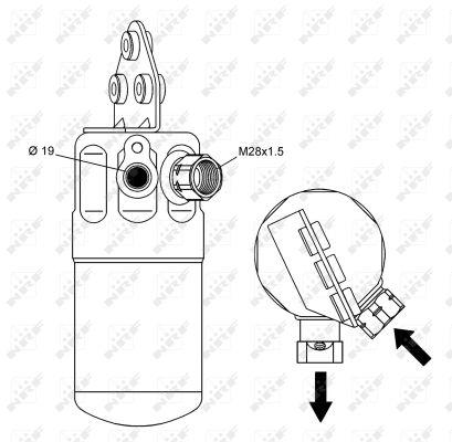 Bouteille deshydratante NRF 33236 (X1)