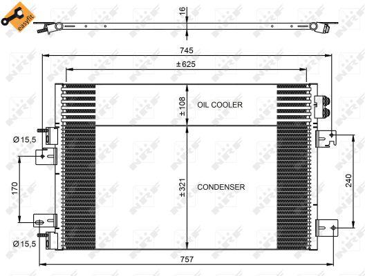 Condenseur / Radiateur de climatisation NRF 350031 (X1)