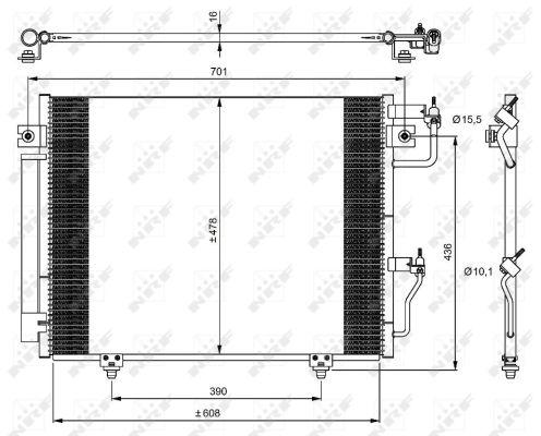 Condenseur / Radiateur de climatisation NRF 350049 (X1)