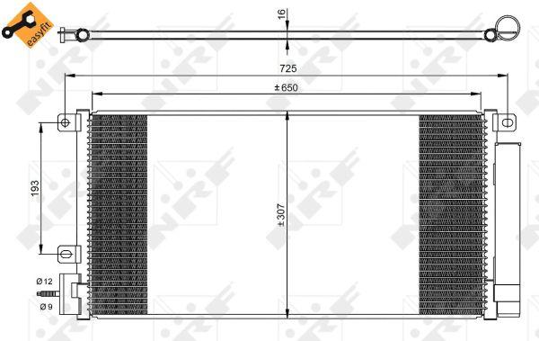 Condenseur / Radiateur de climatisation NRF 350067 (X1)
