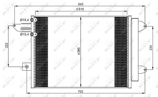 Condenseur / Radiateur de climatisation NRF 350070 (X1)