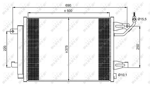 Condenseur / Radiateur de climatisation NRF 350073 (X1)