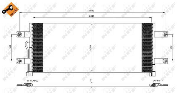 Condenseur / Radiateur de climatisation NRF 350075 (X1)