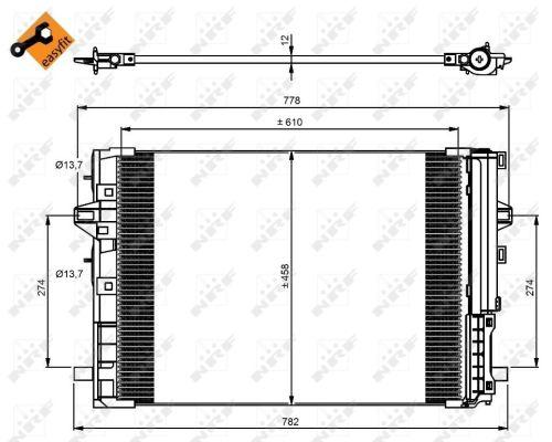 Condenseur / Radiateur de climatisation NRF 350081 (X1)