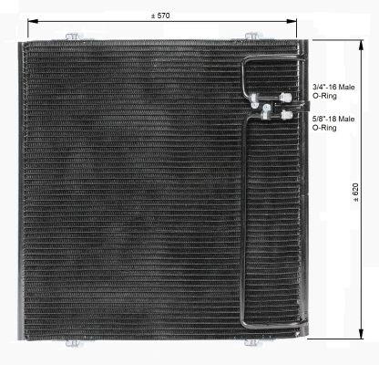 Condenseur / Radiateur de climatisation NRF 350091 (X1)