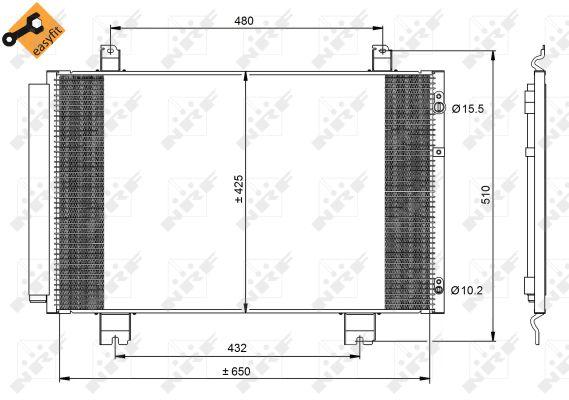 Condenseur / Radiateur de climatisation NRF 350092 (X1)