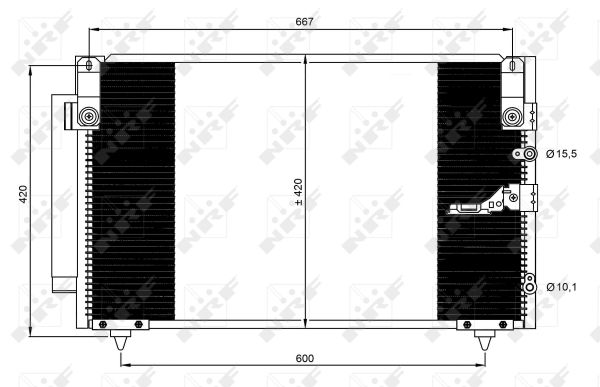 Condenseur / Radiateur de climatisation NRF 350093 (X1)