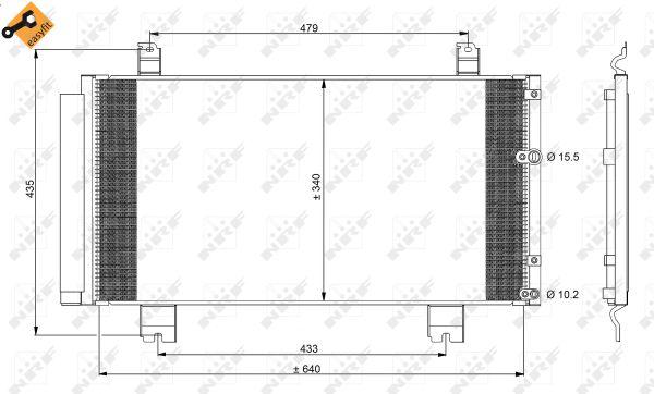 Condenseur / Radiateur de climatisation NRF 350100 (X1)