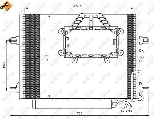Condenseur / Radiateur de climatisation NRF 350211 (X1)