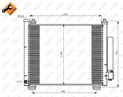 Condenseur / Radiateur de climatisation NRF 350216 (X1)