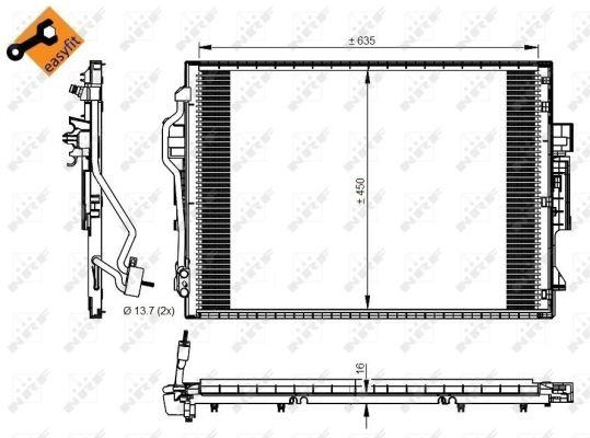 Condenseur / Radiateur de climatisation NRF 350218 (X1)