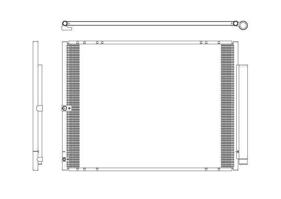 Condenseur / Radiateur de climatisation NRF 350276 (X1)