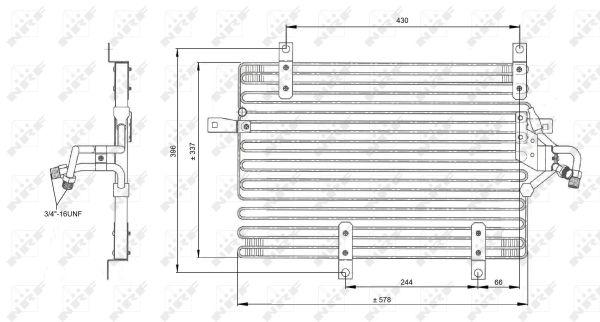 Condenseur / Radiateur de climatisation NRF 35052 (X1)