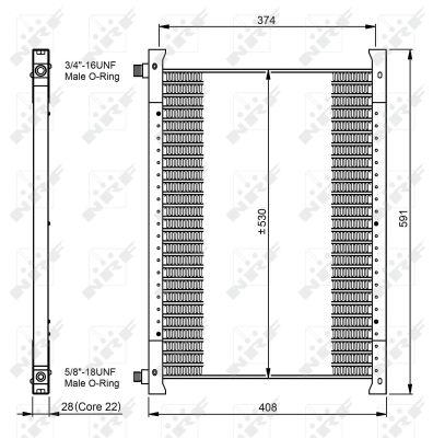 Condenseur / Radiateur de climatisation NRF 35064 (X1)