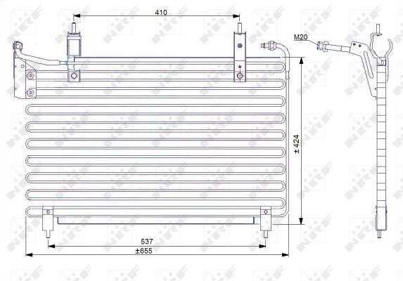 Condenseur / Radiateur de climatisation NRF 35071 (X1)