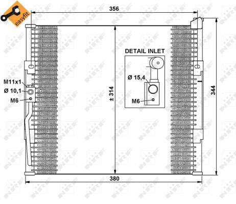 Condenseur / Radiateur de climatisation NRF 35146 (X1)
