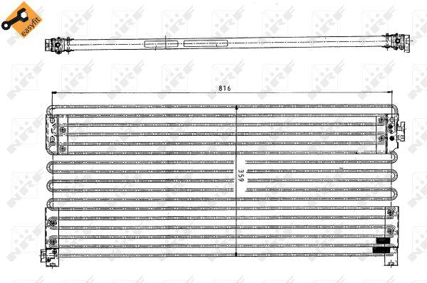 Condenseur / Radiateur de climatisation NRF 35154 (X1)
