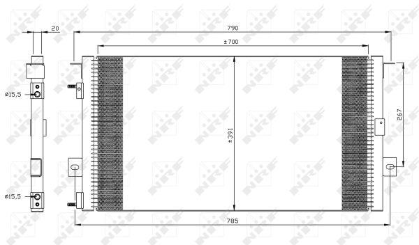 Condenseur / Radiateur de climatisation NRF 35156 (X1)