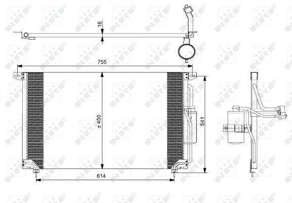 Condenseur / Radiateur de climatisation NRF 35184 (X1)
