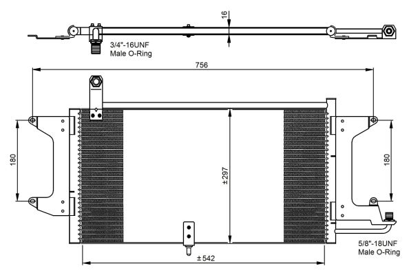 Condenseur / Radiateur de climatisation NRF 35204 (X1)