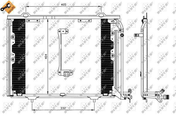 Condenseur / Radiateur de climatisation NRF 35214 (X1)