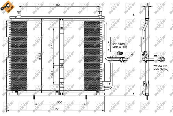 Condenseur / Radiateur de climatisation NRF 35244 (X1)