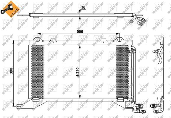 Condenseur / Radiateur de climatisation NRF 35245 (X1)