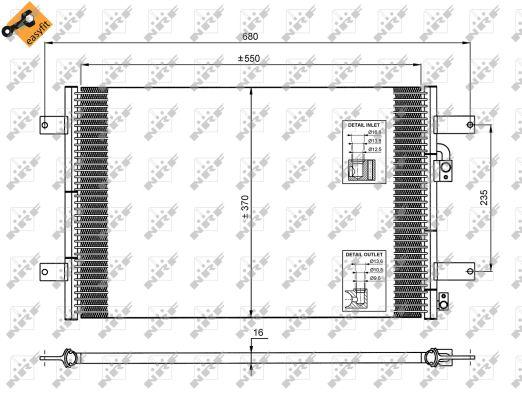 Condenseur / Radiateur de climatisation NRF 35249 (X1)