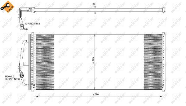 Condenseur / Radiateur de climatisation NRF 35277 (X1)