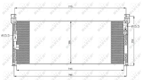 Condenseur / Radiateur de climatisation NRF 35280 (X1)