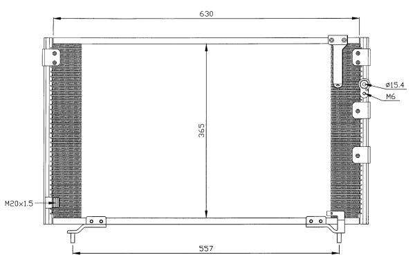 Condenseur / Radiateur de climatisation NRF 35281 (X1)
