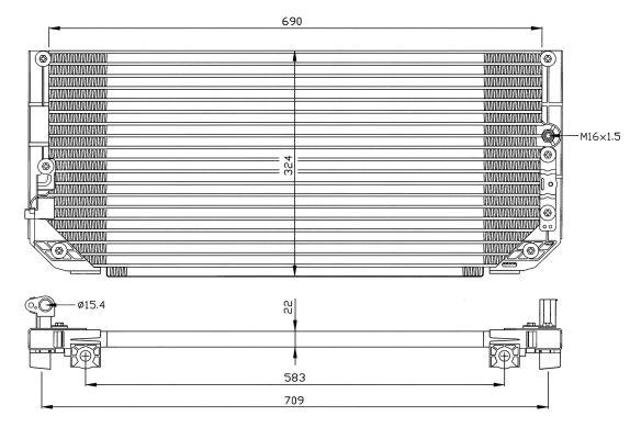 Condenseur / Radiateur de climatisation NRF 35282 (X1)
