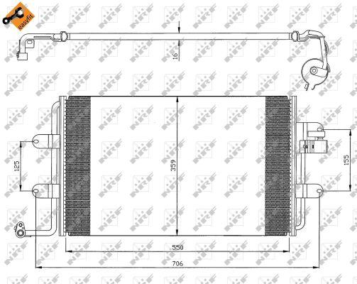 Condenseur / Radiateur de climatisation NRF 35300 (X1)