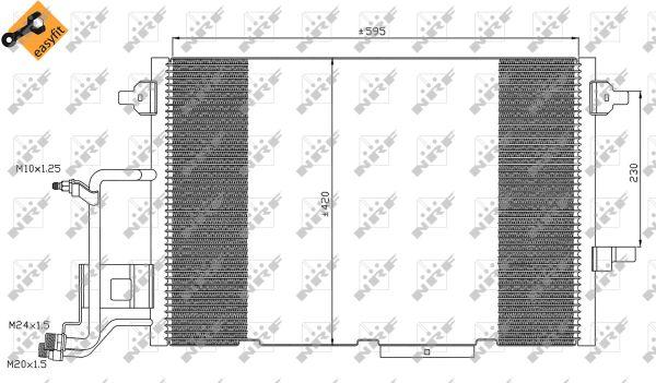 Condenseur / Radiateur de climatisation NRF 35317 (X1)