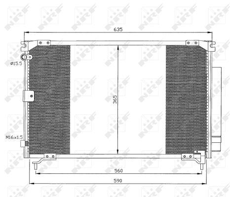 Condenseur / Radiateur de climatisation NRF 35339 (X1)