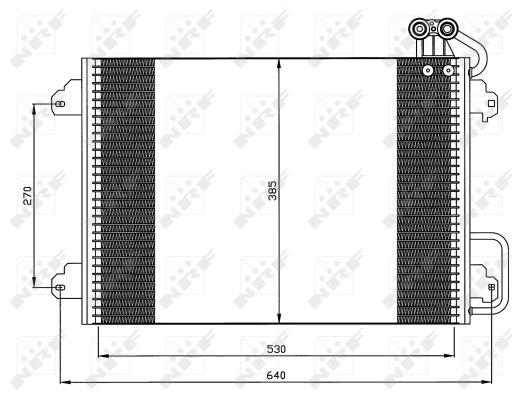 Condenseur / Radiateur de climatisation NRF 35340 (X1)