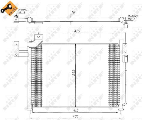 Condenseur / Radiateur de climatisation NRF 35388 (X1)