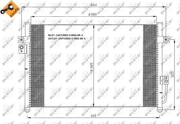 Condenseur / Radiateur de climatisation NRF 35426 (X1)