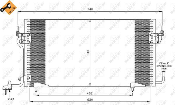 Condenseur / Radiateur de climatisation NRF 35439 (X1)