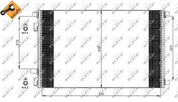 Condenseur / Radiateur de climatisation NRF 35449 (X1)