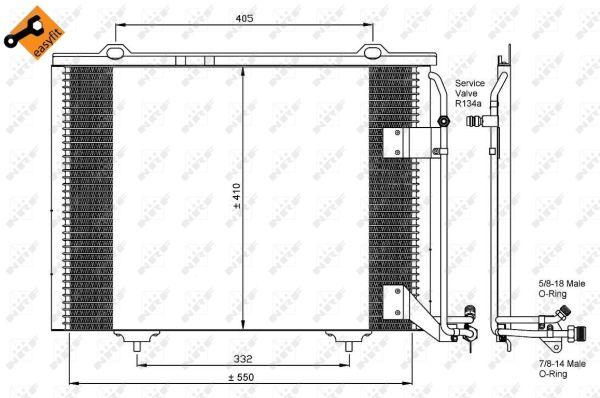 Air Conditionné Behr Hella Service 8fc 351 038-464 Condensateur